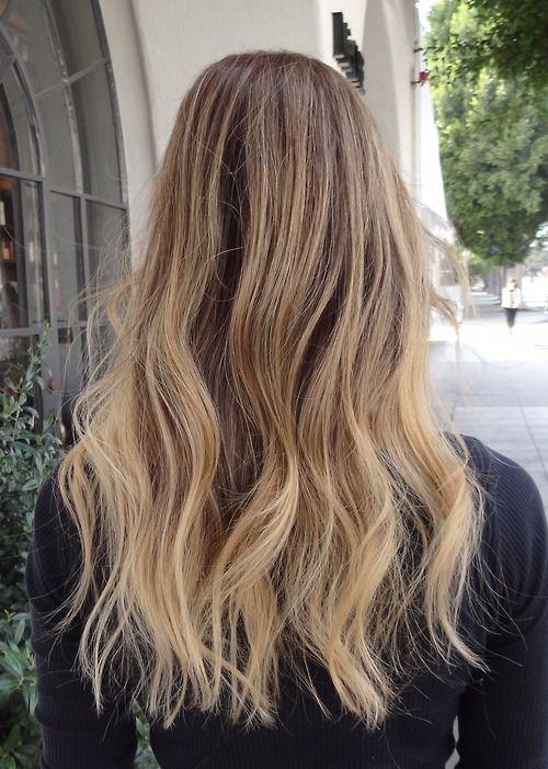 ombrè capelli biondo cenere