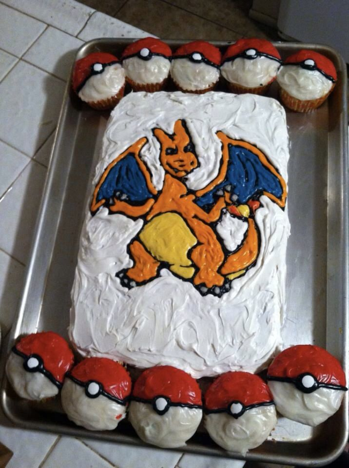 Charizard Cake Pokemon Baking Pokemon Birthday Cake