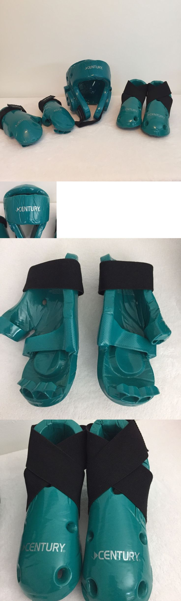 Other Combat Sport Protection 179783: Century Martial Arts Taekwondo Sparring Gear Teal 5 Piece Set Size 3 4 Adult S -> BUY IT NOW ONLY: $30.99 on eBay!