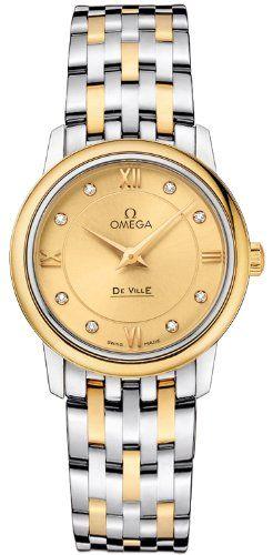 Omega Deville Prestige Quartz Ladies Watch 42420276058001 * Check out the image ...