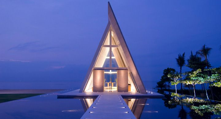 Infinity Chapel at Conrad Bali - a magnificent wedding venue afloat 2 meters above sea level with the ocean as its backdrop.