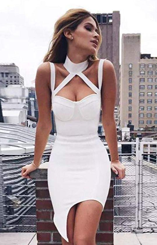designer fashion 78ecf 6132b Amlaiworld Damen Sommer Band Neckholder MiniKleid elegant ...