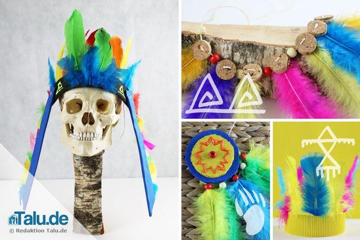 Wir zeigen Ihnen hier, wie Sie kinderleicht Indianerschmuck basteln können und was verschiedene indianische Symbole bedeuten. Fasching kann also kommen!