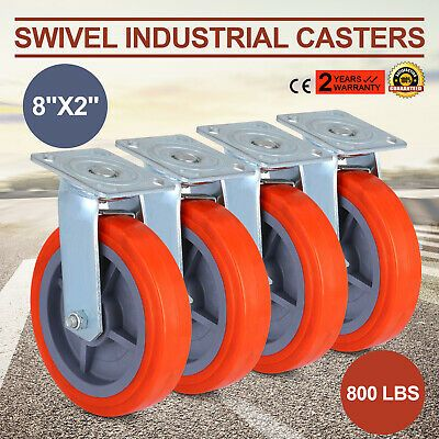 Ad Ebay 4 X Swivel Casters Polyurethane Wheel Heavy Duty 8 X 2 800lbs X4 Funiture With Images Swivel Casters Casters Wheels