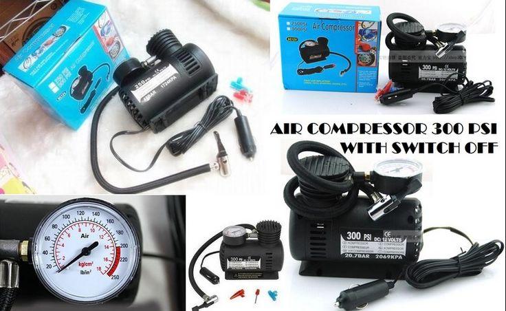 jual online Pompa ban mobil Air Compressor | Pompa Ban Elektrik Untuk Mobil,Motor,Sepeda Dll  Pompa ban mobil Air Compressor | Pompa Ban Elektrik ini adalah kompresor mini yang memiliki kekuatan 300 PSI, 20.7 BAR & 2069 KPA. Dilengkapi dengan indikator tekanan angin ban.