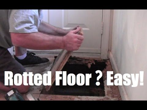 How to replace repair rotted sub floor, rotten floor. Easy! Home Mender - YouTube