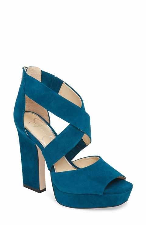 9ac1b5a15b2 Jessica Simpson Tehya Cross Strap Platform Sandal (Women)