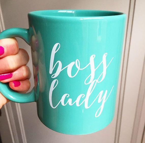 Mint Boss Lady Coffee Mug Coffee Mugs Boss Lady by sweetwaterdecor