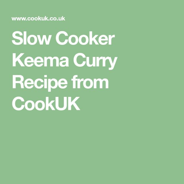 Slow Cooker Keema Curry Recipe from CookUK