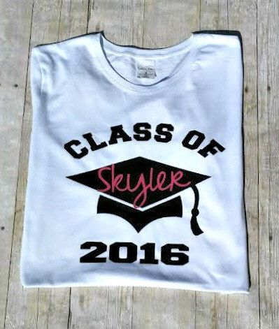 senior shirt, class of 2016, class of 2017, kindergarten graduation, high school tshirt, personalized tshirt, custom top, graduation tshirt by CaffeineAndWine on Etsy https://www.etsy.com/listing/400496917/senior-shirt-class-of-2016-class-of-2017