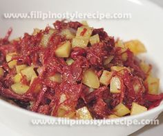 """Ginisang corned beef or sauteed canned corned beef is another popular breakfast by most Filipinos. This dish is simple and easy to prepared, normally the corned beef sauteed with garlic and onion then cooked with fried potatoes. Ginisang corned beef is usually served with fried rice(sinangag) and egg(itlog) also known as """"Cornsilog""""."""