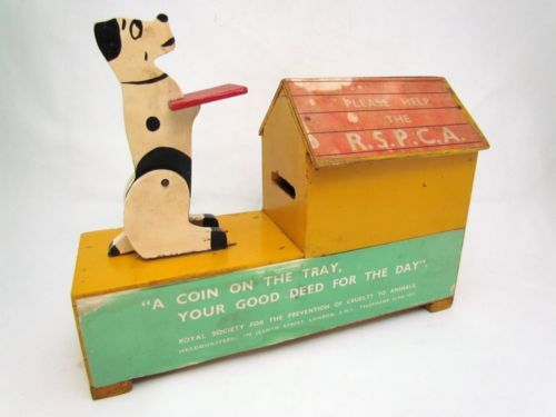 VINTAGE RSPCA DONATIONS WOODEN BOX