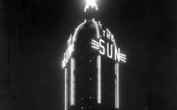 Something surreal about this old Vancouver Sun building pic