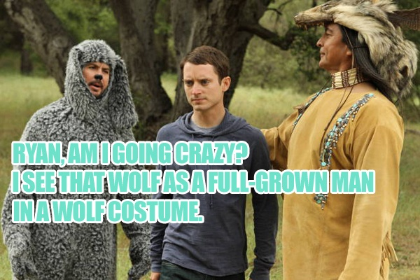 Today's WILFRED caption brought to you by Taccado—two wins in a row! Congrats!