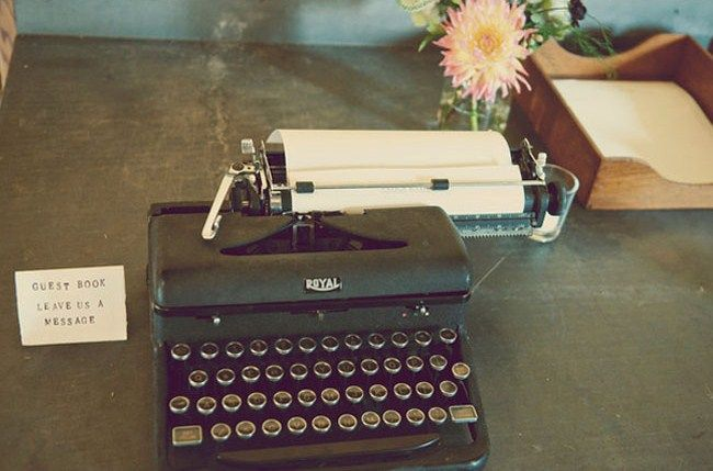rustic navy.Guestbook Ideas, Guest Books, Engagement Photos, Typewriters Ideas, Typewriters Guestbook, Royal Typewriters, Vintage Typewriters, Guest Photos, Vintage Inspiration