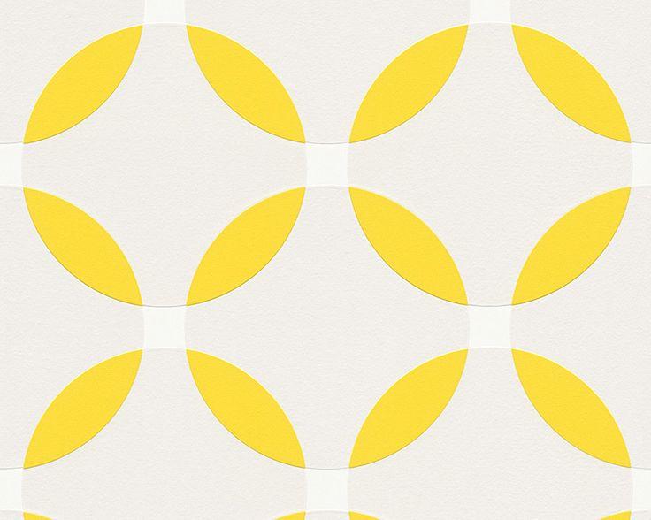Tapete Werner Aisslinger Grafisch grau gelb 95579-4