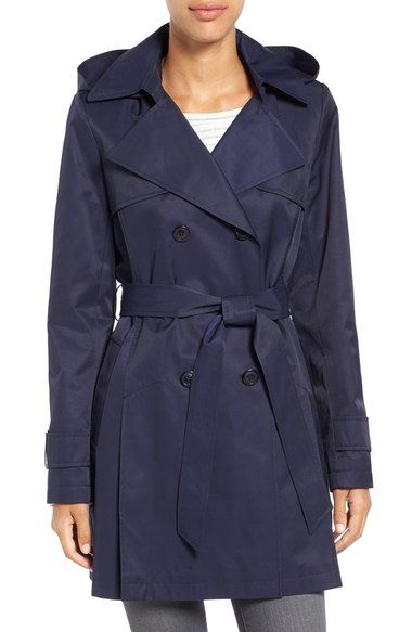 Halogen® Detachable Hood Trench Coat available at #Nordstrom in TAN