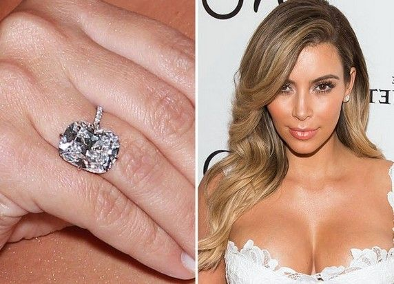 Kim Kardashian's engagement ring from Kanye West in 2013.
