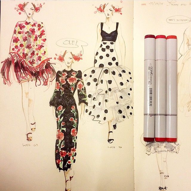 Bitchaporter Fashionary Beautiful fashion... | Fashionary Hand - A Fashion Illustration Blog
