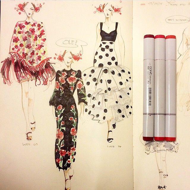 Bitchaporter Fashionary Beautiful fashion... | Fashionary Hand - A Fashion Illustration Blog