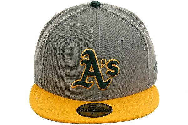 New Era 5950 Oakland Athletics Fitted Hat - Storm Gray, Gold, Green