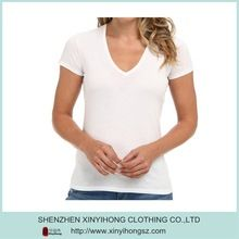 Ladies Deep V neck design white color bamboo fiber t shirts  Best seller follow this link http://shopingayo.space