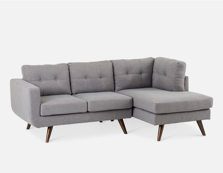 Margot Light Grey Right Facing Sectional Sofa In 2019