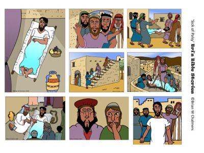 Jesus heals the paralyzed man storyboard