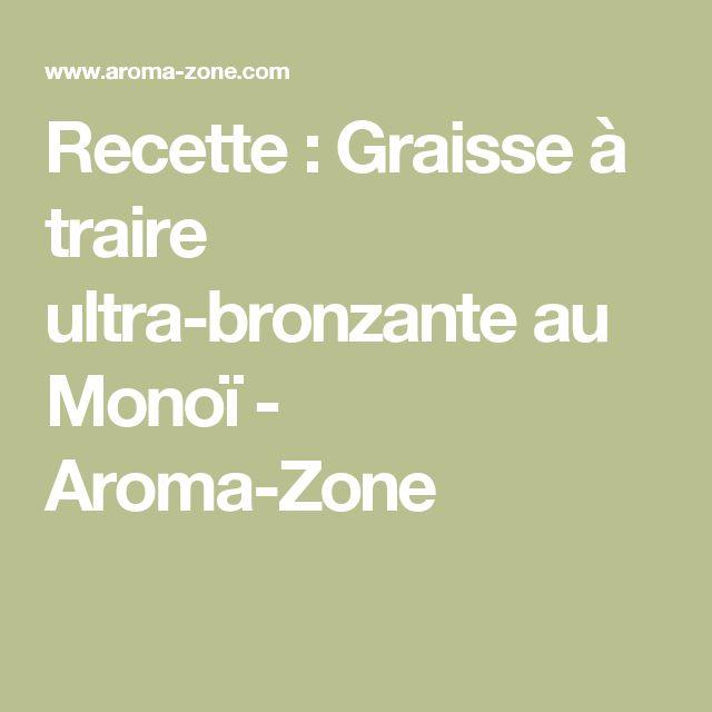 Recette : Graisse à traire ultra-bronzante au Monoï - Aroma-Zone