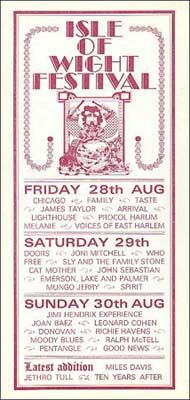 8/28-30/1970 .... The Isle Of Wight Festival