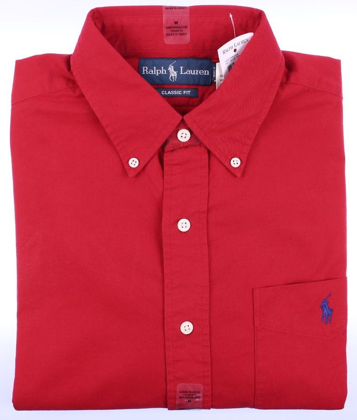 Details about polo ralph lauren mens classic shirt long for Mens long sleeve button down shirts