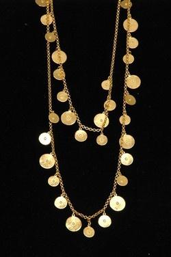 Ben Amun Long Gold Disc Necklace