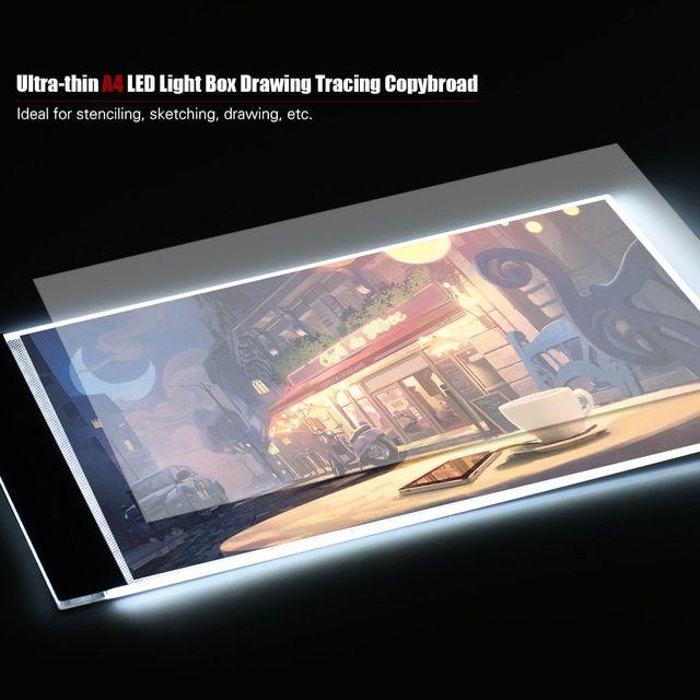 Elhua Portable A4 Led Light Box Drawing Tracing Tracer Copy Digital Board Table Pad Panel Copyboard For Artist Animation Led Light Box Led Lights Digital Board