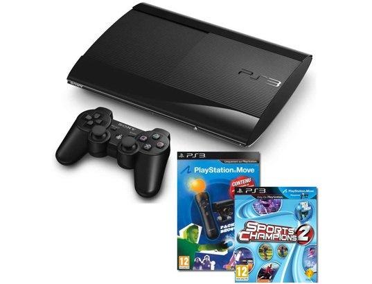 Console PS3 SONY 12Go Noire + Pack Découverte + Sports Champions 2 #black
