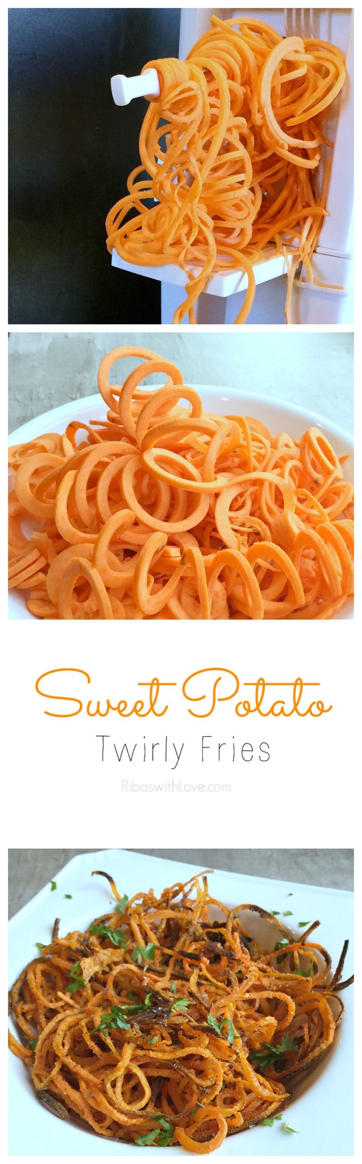 This baked sweet potato twirly fries is a delightful recipe to enjoy all year round.  Serve it alongside your favorite burger or as a yummy side dish to any meal.