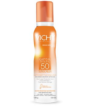 This sunscreen rocks! Read the entire Vichy Capital Soleil 50 Sunscreen Review at www.prettyproof.com