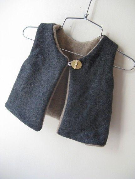 Boy/girl chic vest-
