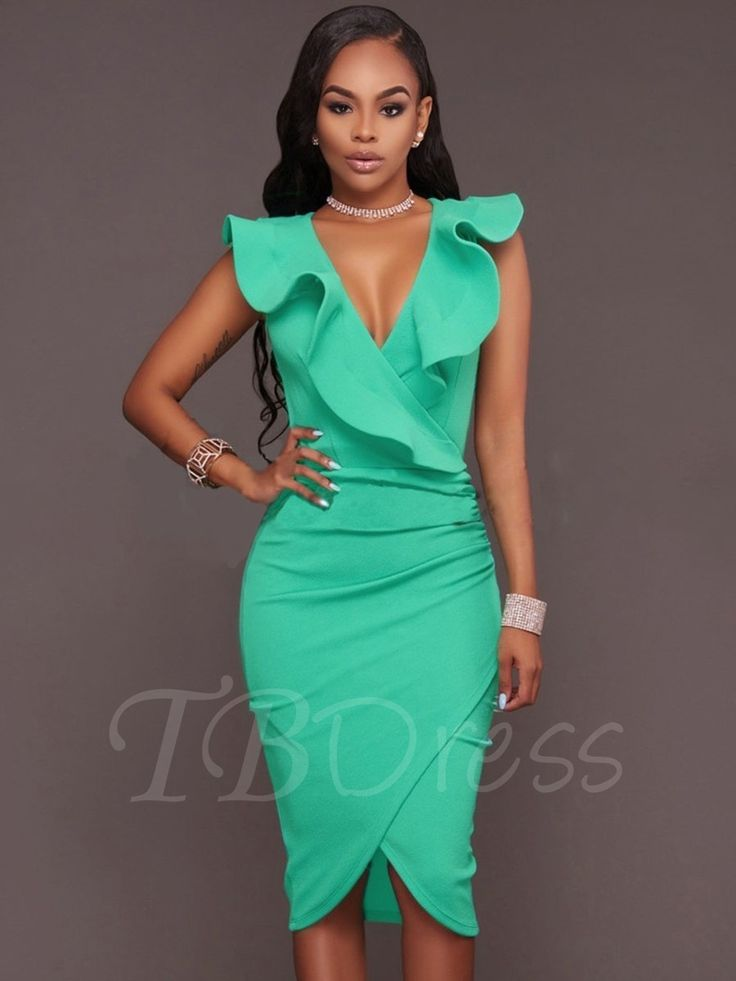 Tbdress.com offers high quality Falbala Ruffle Plain Bodycon Asym Women's Party Dress Party Dresses unit price of $ 19.99.
