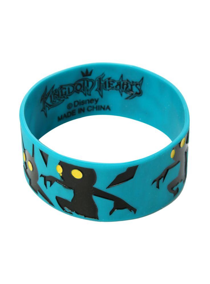 Disney Kingdom Hearts Heartless Rubber Bracelet | Hot Topic