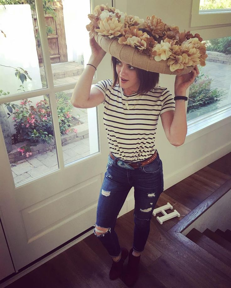 Lucy Hale News • Your best source for everything Lucy Hale  - lucyhale coachella at home. Wreath & flower crown...