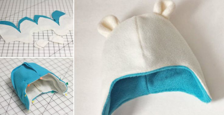 Get warm fleece, use a pattern and sew this cute hat!