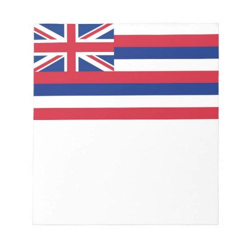 Notepad With Flag Of Hawaii State Zazzle Com Hawaii Flag Flag Hawaii State Flag