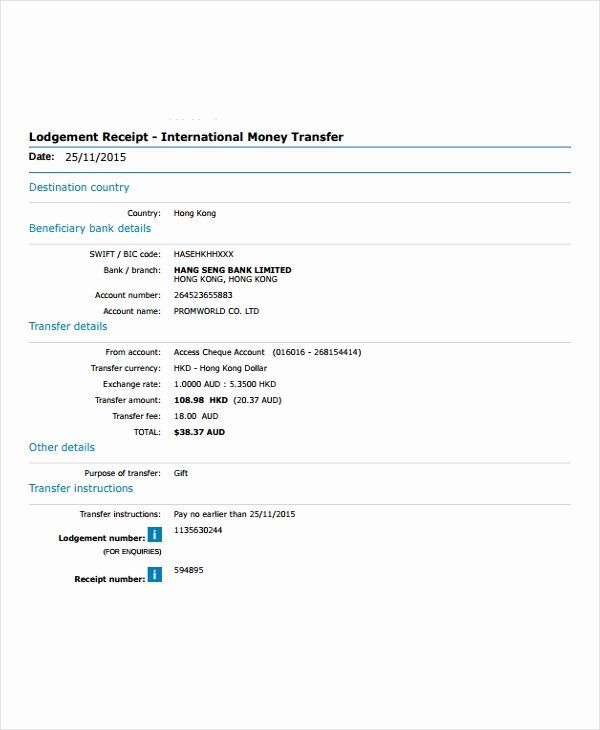 International Wire Transfer Form Template Luxury Which The Following Is Example Transfer Payment Receipt Template Receipt Transfer