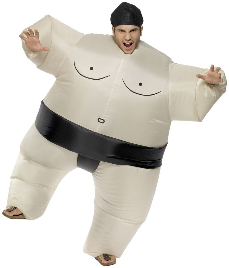 Costume sumo gonfiabile adulti: Questo costume gonfiabile da sumo per adulti è composto da una tuta, un copricapo e un sistema di gonfiaggio a pile. Pile non incluse. Questo originale costume da sumo sarà una sorpresa per le tue...