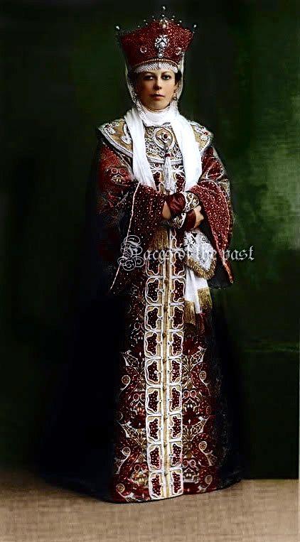 Princess Maria Mikhailovna Golitsina at the Winter Palace Costume Ball of 1903.