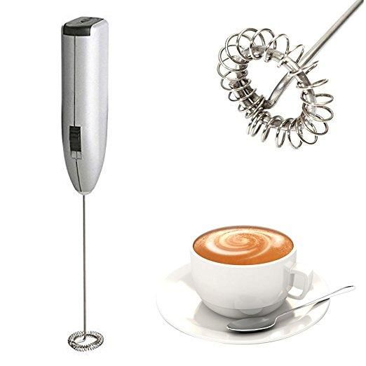 Automatic Milk Frother Electric Handhold Stainless steel Mini Coffee Milk Mixer Portable Frother at Banggood
