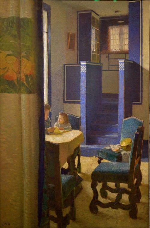 Carl Julius Rudolf Moll (1861-1945, Austrian) Salon Hohe Warte, Vienna, 1903