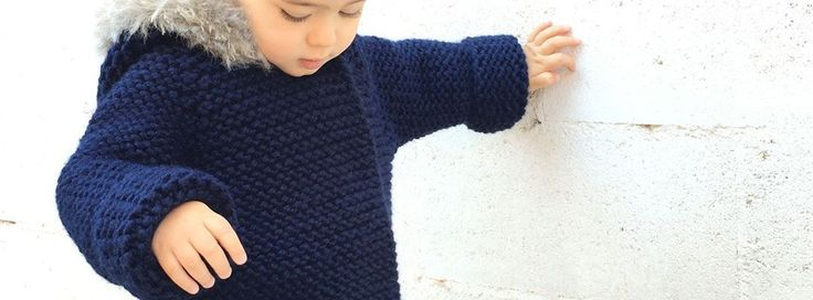 Abrigo de punto de bebé - DIY- Creativa Atelier
