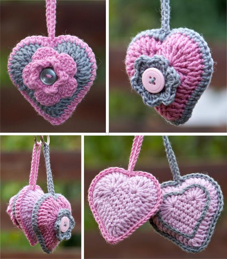 crocheted keyholders