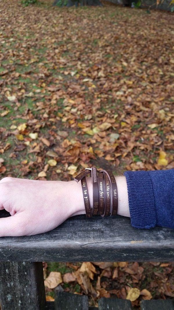 Brown We Positive bracelet